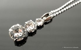 'Classique' Necklace Crystal on Sterling Silver Filled