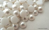 NEW!! Preciosa Non-Hotfix Pearl Cabachon White 5mm