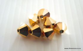 Swarovski Bicone Art 5328 Aurum 2x (Metallic Gold) 3mm