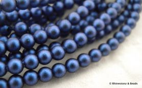 Swarovski Round Pearl Art 5810 Iridescent Dark Blue 4mm