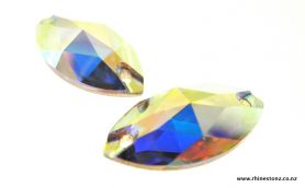 Swarovski Sew-On Navette Art 3223 Crystal AB 18mm