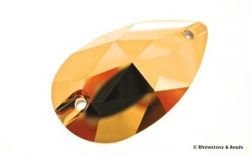 NEW!! Swarovski Sew-On Teardrop Art 3230 Aurum 28mm