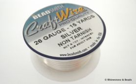 Craft Wire Bead Smith 26 gauge 13.76 mtrs SILVER