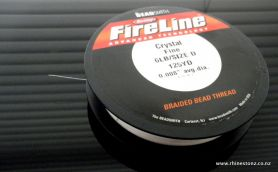FireLine Bead Thread Crystal 6LB/Size D - 125 yard Roll