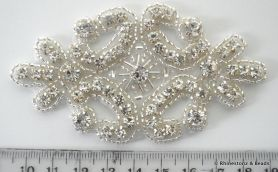 Crystal Applique Crystal/Silver 9.7cm x 5.3cm